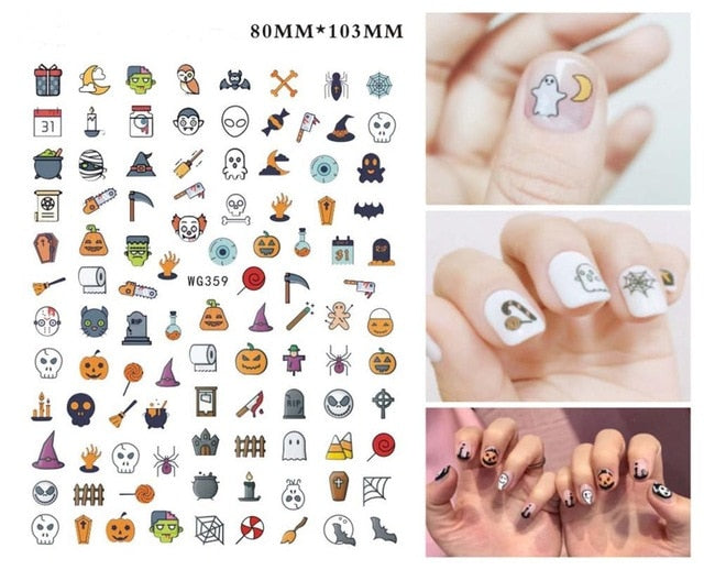 halloween nail art Manicure Back Tips Beauty
