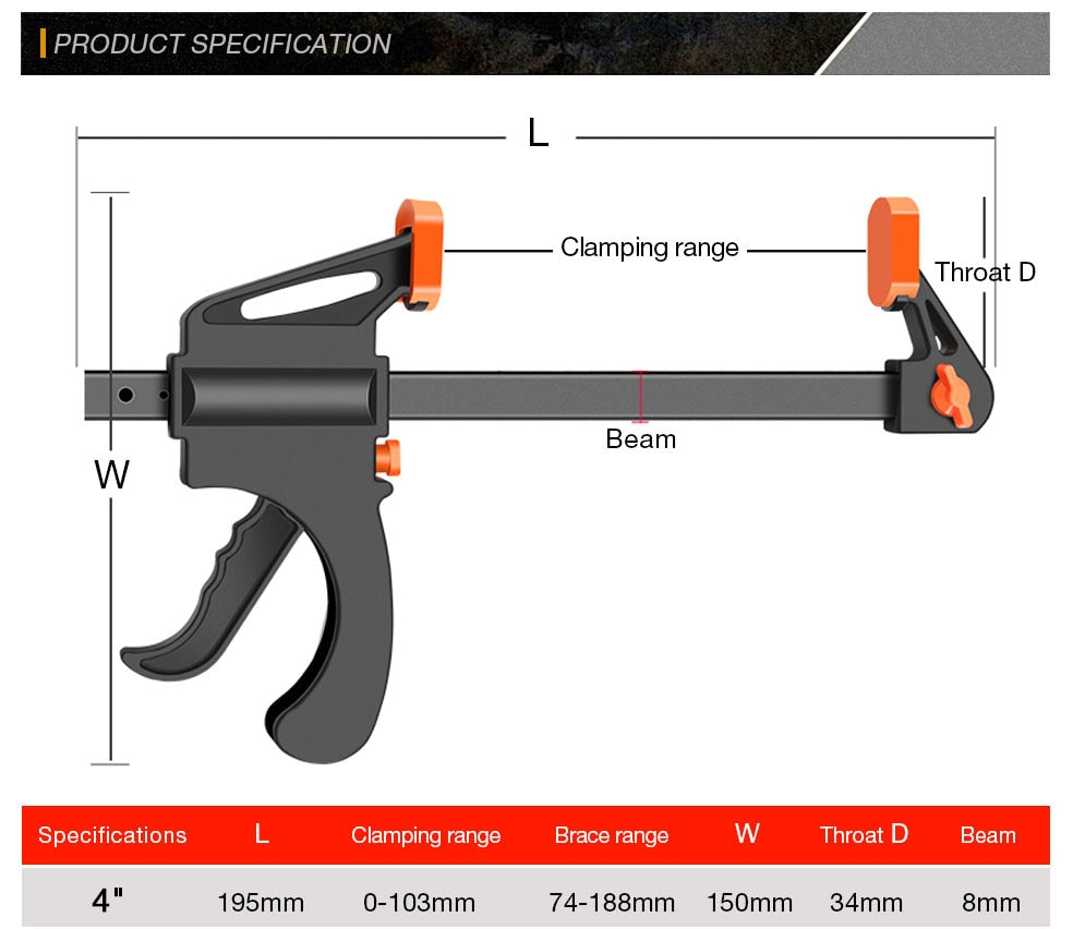 Spreader Work Bar Clamp