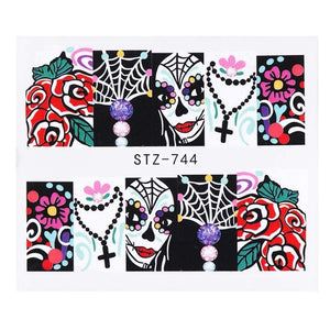 1pcs halloween nail art Watermark Manicure Tattoo