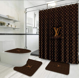louis vuitton shower curtain set