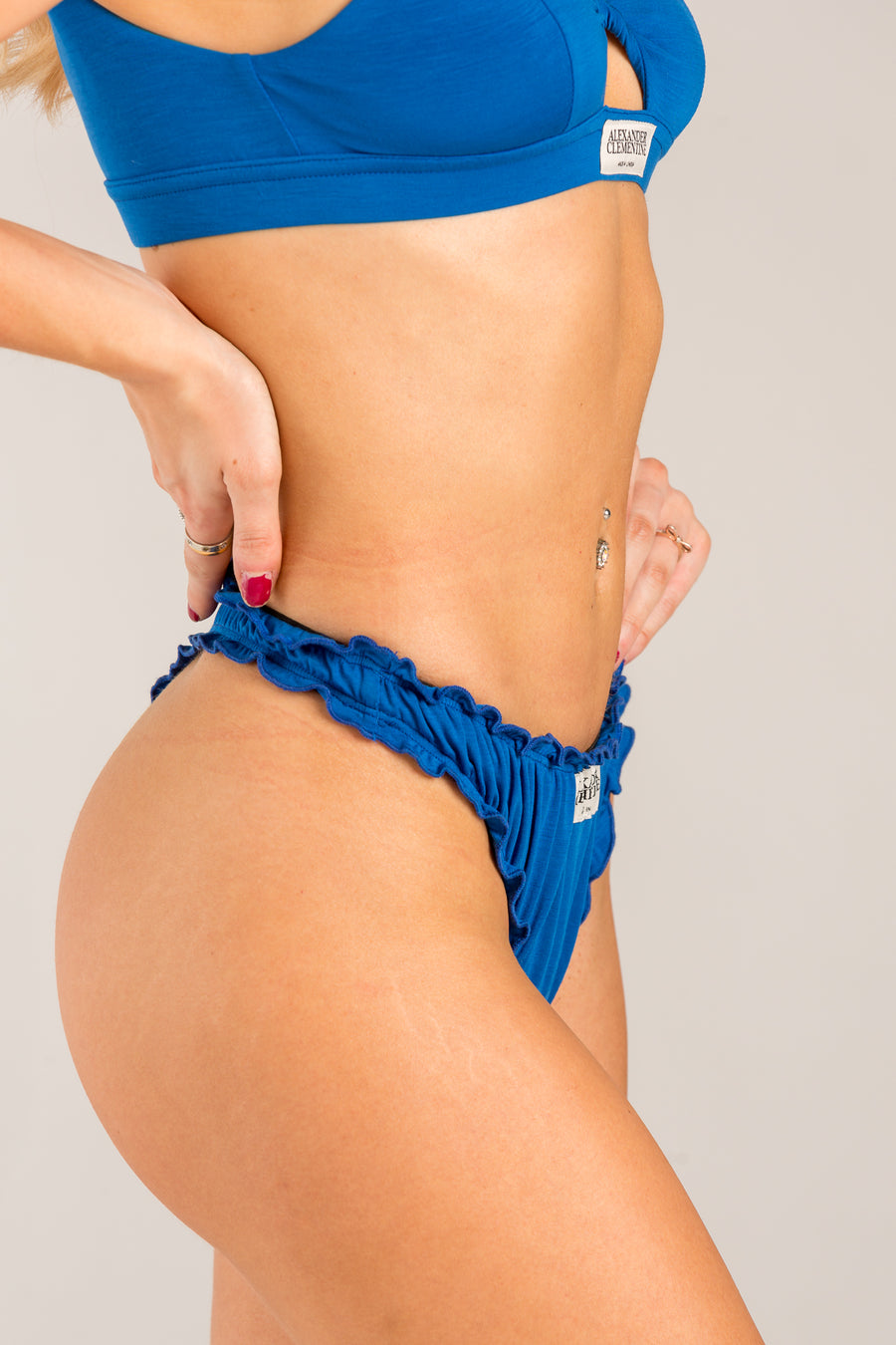Frilly Blue Seaweed Thong