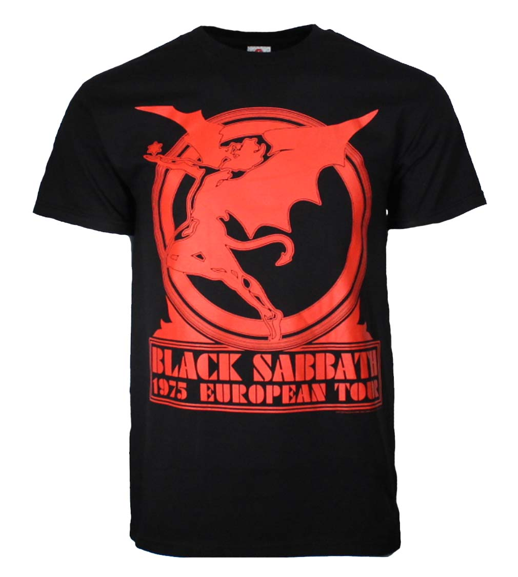 Black Sabbath Europe 75 T-Shirt - Band Merch USA