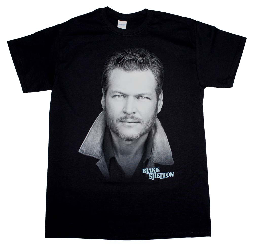 Blake Shelton Portrait T-Shirt - Band Merch USA