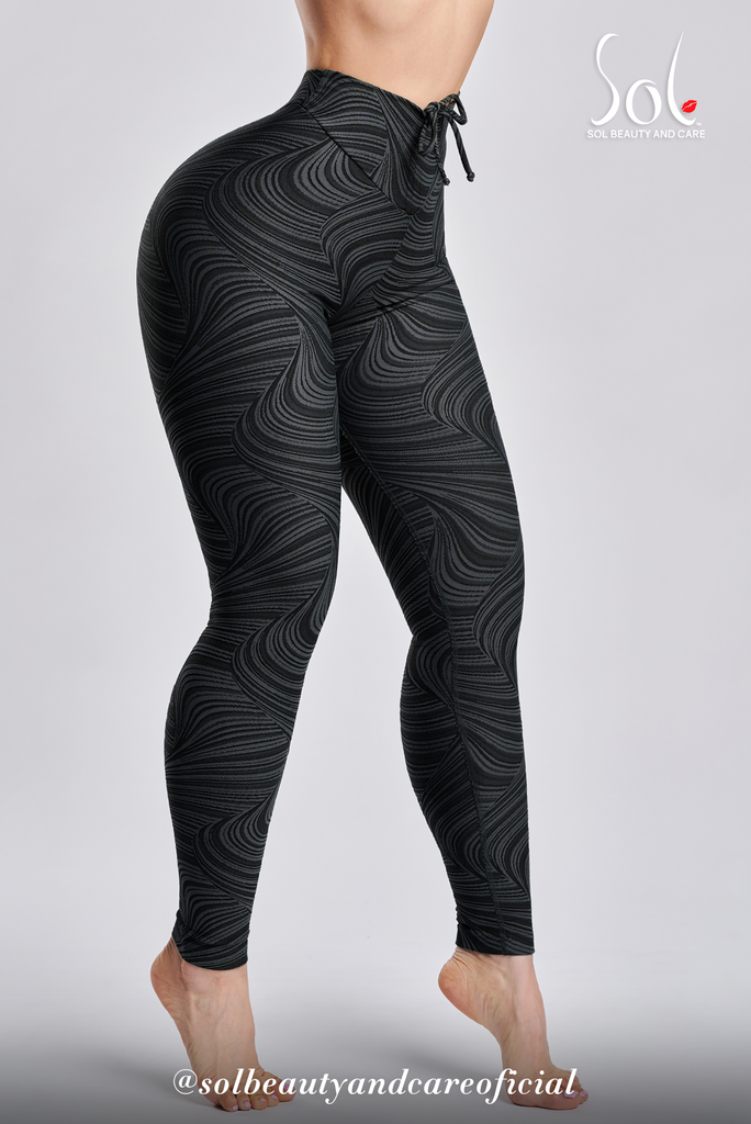 Leggings Anti-Celulítico Scrunch (Relief) - BLACK/GRAY