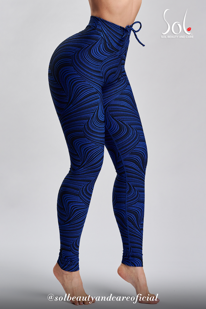 Scrunch Anti-Cellulite Leggings (Relief) - BLACK/BLUE