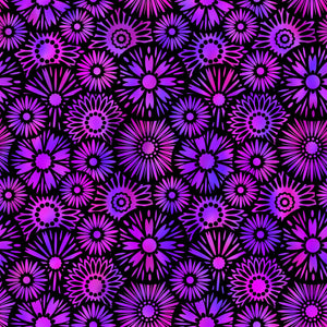 Unusual Gardens II By Jason Yenter - Black/Purple Blooms