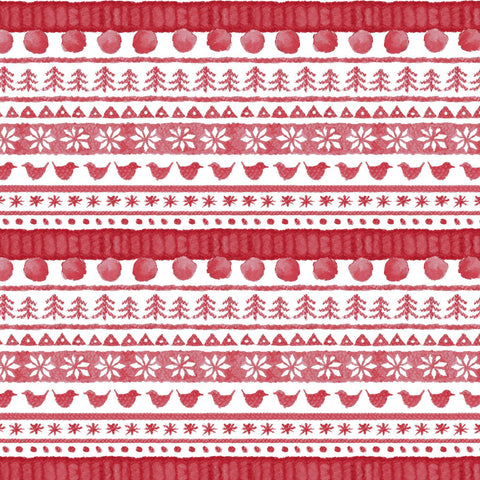 Love is...Warm Wishes - Red Sweater Stripes