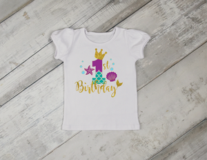 Mermaid Birthday Shirt