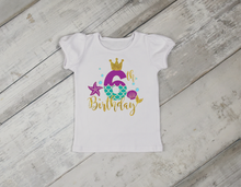 Load image into Gallery viewer, Mermaid Birthday Shirt