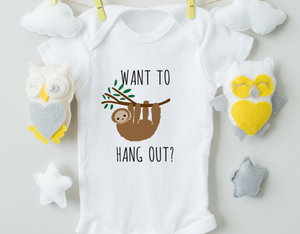Want To Hang Out Boy Onesie