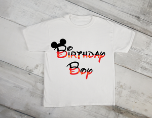 Mickey Mouse Boy Birthday Shirt-Color