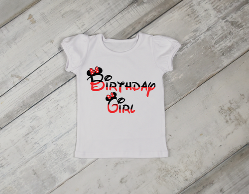 Minnie Mouse Girl Birthday Shirt-Color
