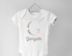 Personalized Baby Girl Onesie