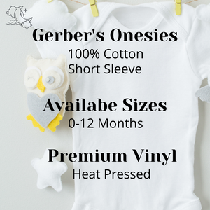 Personalized Red Heart Name Onesie
