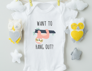 Want To Hang Out Girl Onesie