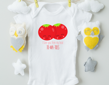 Load image into Gallery viewer, I love You From My Head To My Tomatoes Onesie/Baby Valentine's Day Onesie