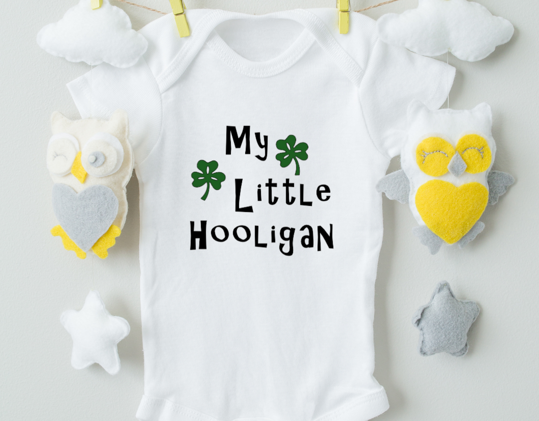 My Little Hooligan Baby Onesie