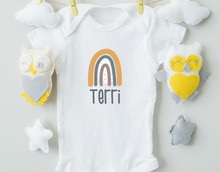 Load image into Gallery viewer, Personalized Rainbow Name Onesie
