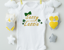 Load image into Gallery viewer, Sassy Little Lassie Baby Onesie/St. Patrick's Day Baby Onesie/St. Patty's Day
