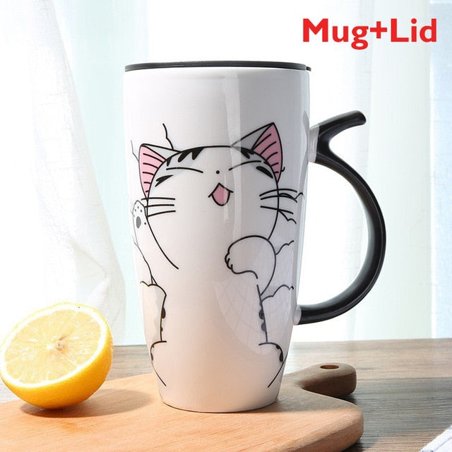 Super Adorably Cute And Unique Cat Ceramic Coffee or Tea Mug
