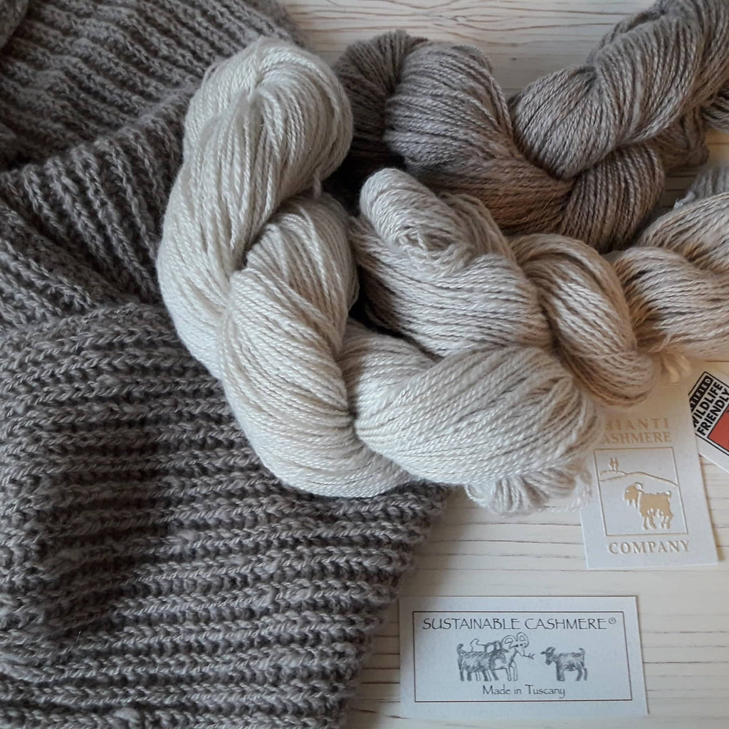 SUSTAINABLE CASHMERE® TWO-PLY SKEINS - 50 GRAMS