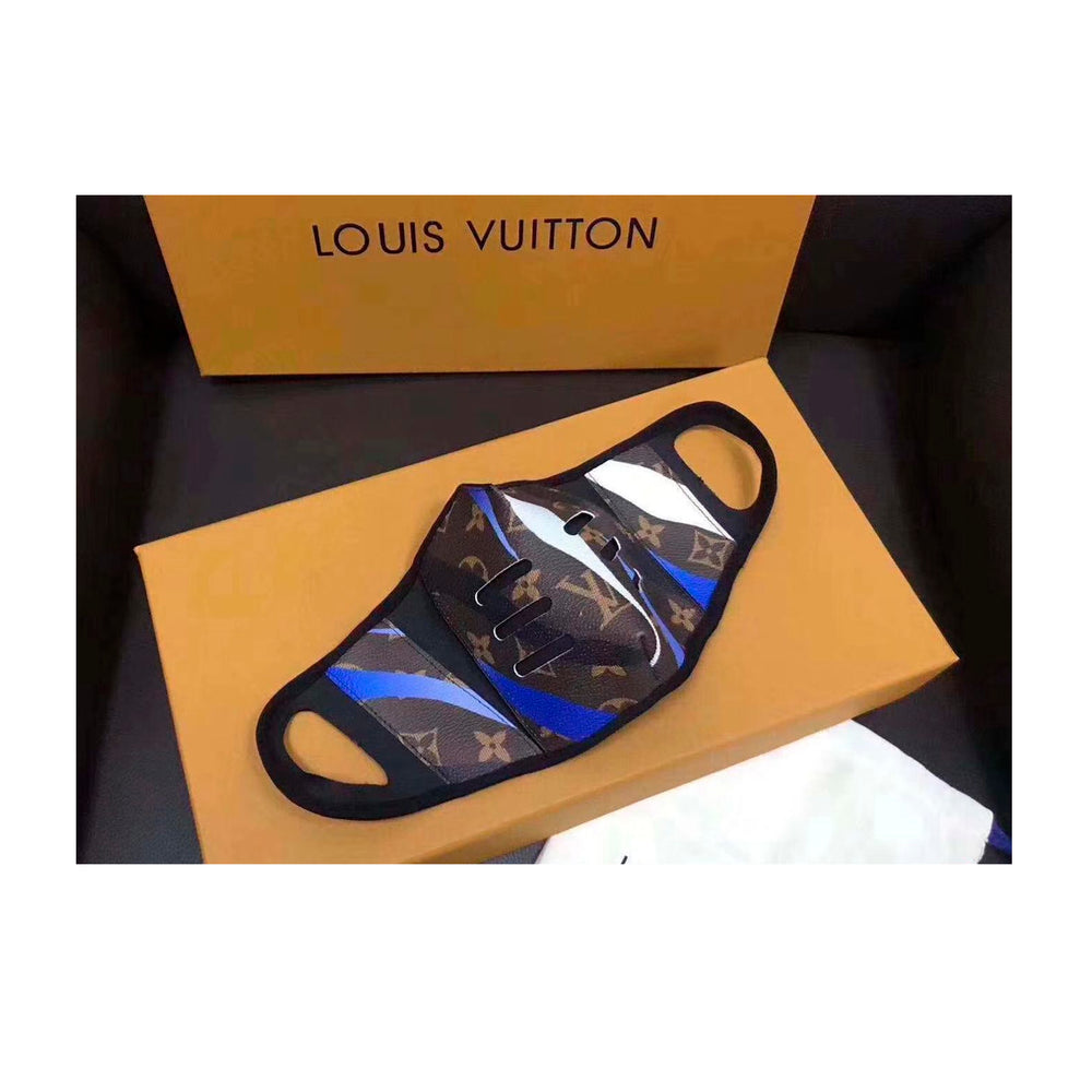 LV Face Mask BROWN BLUE