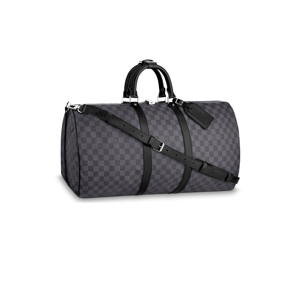 LV Keepall Bandouliere 55 BLACK GRAPHITE