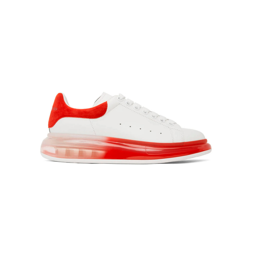 Oversized Sneaker Clear Sole WHITE RED