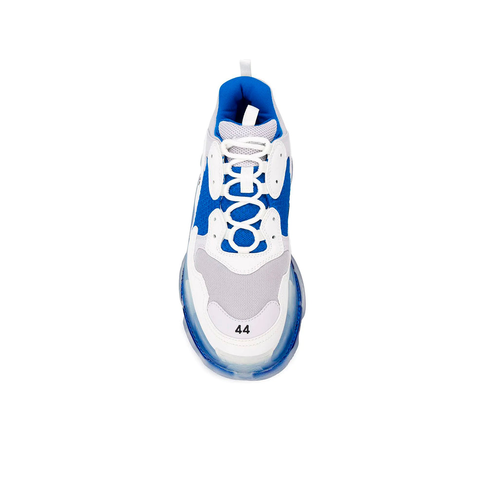 Triple-S CLEAR SOLE WHITE BLUE