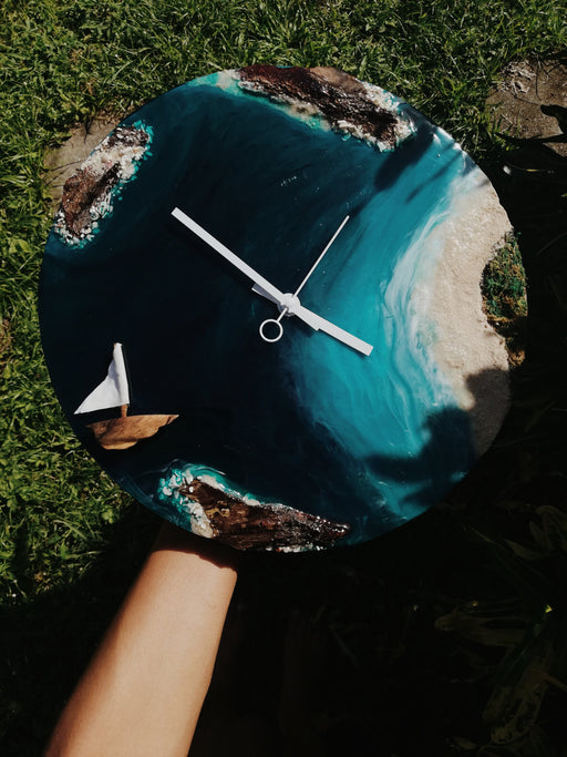 Beach & Wildlife Inspired Clock