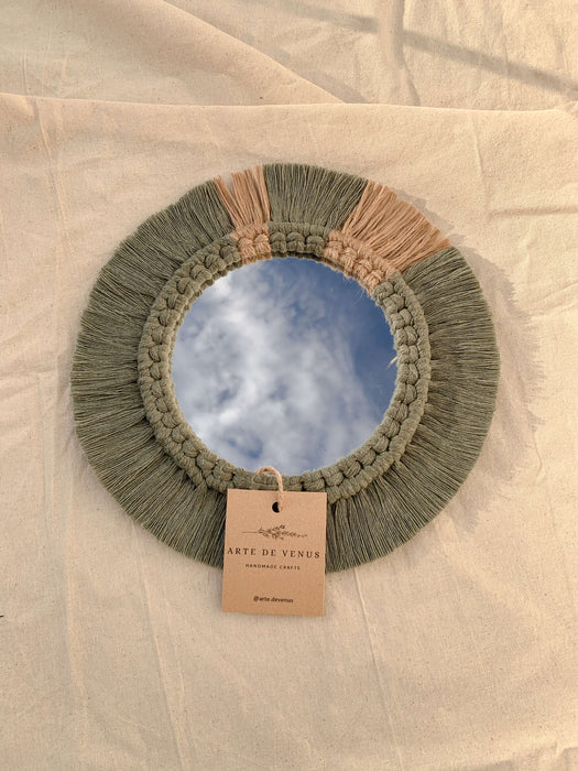 Woven Detailed Mirror