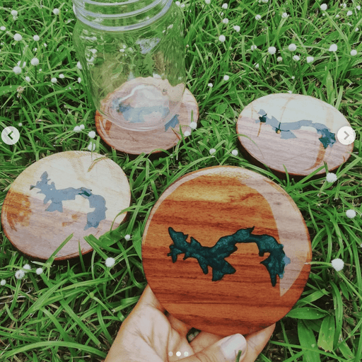 Custom Natural Wood Coasters
