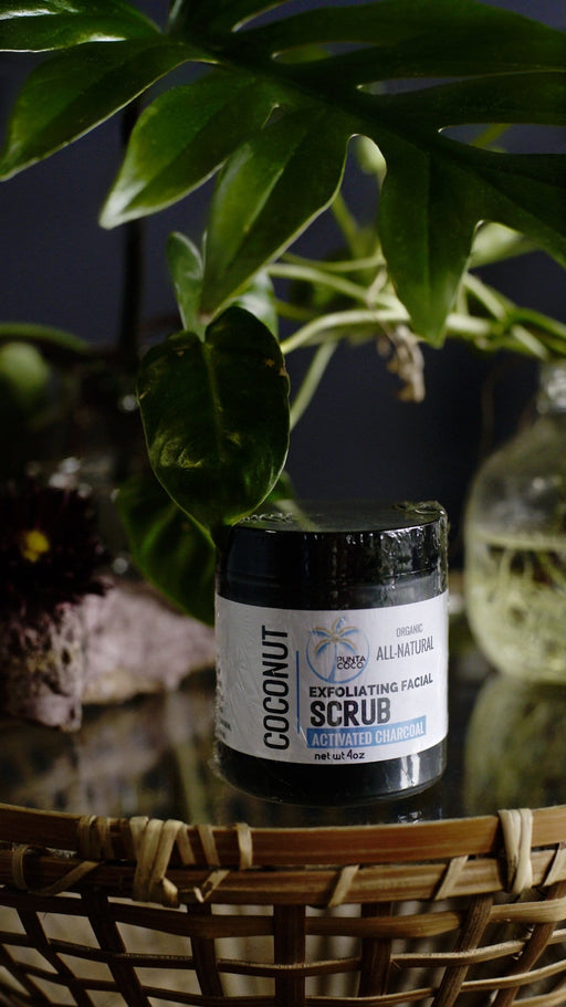 Coconut Activated Charcoal Exfoliating Facial Scrub