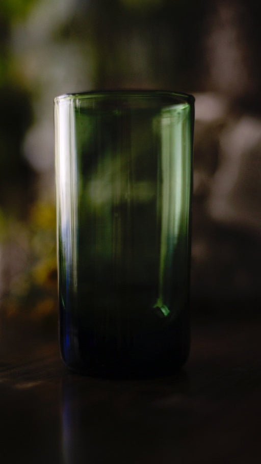 Tall Green Glasses, Recycled Glass