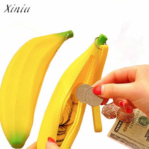 Lovely Silicone Banana Tie Zipper Coin Purses Multifunctio Wallets Famous Brand Women Wallet Billeteras Para Mujer Carteira