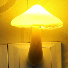 Load image into Gallery viewer, 2018 New Fashion Mushroom Night light LED Yellow Sensor Night Light Socket Bedside Table Lighting Control Decoration Light