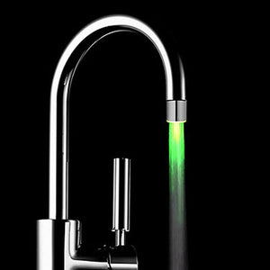 Home Fashion LED Faucet Shower Light Romantic 7 Color Change LED Light Shower Head Water Bath Home Bathroom Glow Night Lights