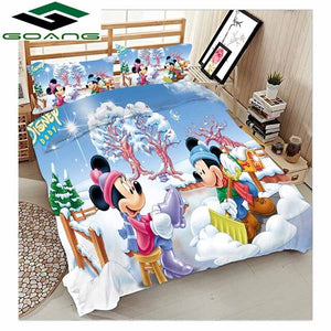 GOANG boys bedding set 3d bed sheet duvet cover pillow case 100% Microfiber fabric Cartoon sports car 3pcs kids bedding