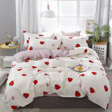 Load image into Gallery viewer, Lanke Cotton Bedding Sets, Home Textile Twin King Queen Size Bed Set Bedclothes with Bed Sheet Comforter set Pillow case