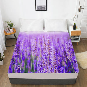 3D HD Digital Print Custom Bed Sheet With Elastic,180/150/160x200 Fitted Sheet Queen/King,Mattress Cover Autumn forest