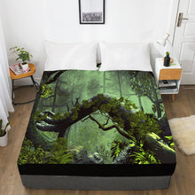 Load image into Gallery viewer, 3D HD Digital Print Custom Bed Sheet With Elastic,180/150/160x200 Fitted Sheet Queen/King,Mattress Cover Autumn forest