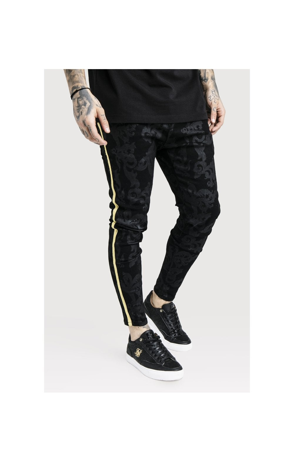 SikSilk x Dani Alves Low Rise Skinny Denims - Black (1)