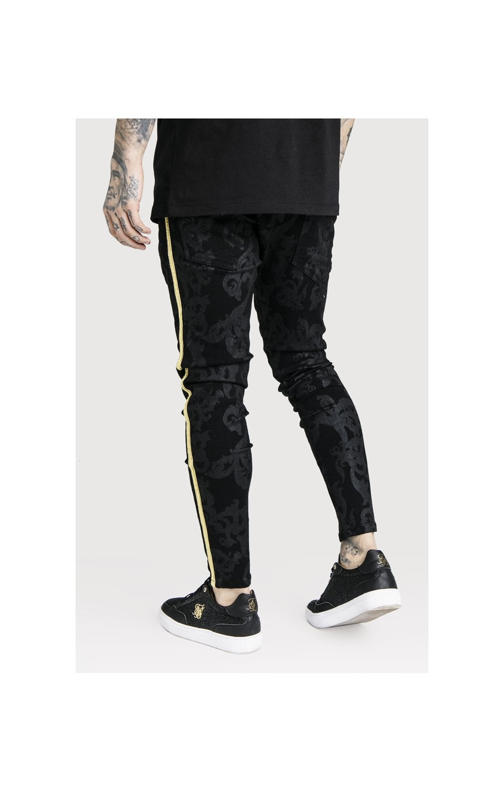 SikSilk x Dani Alves Low Rise Skinny Denims - Black (3)