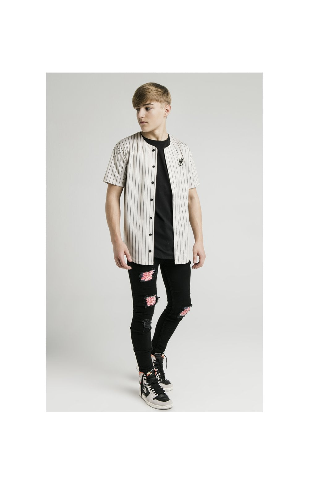 Illusive London Maillot de Baseball - Écru (4)