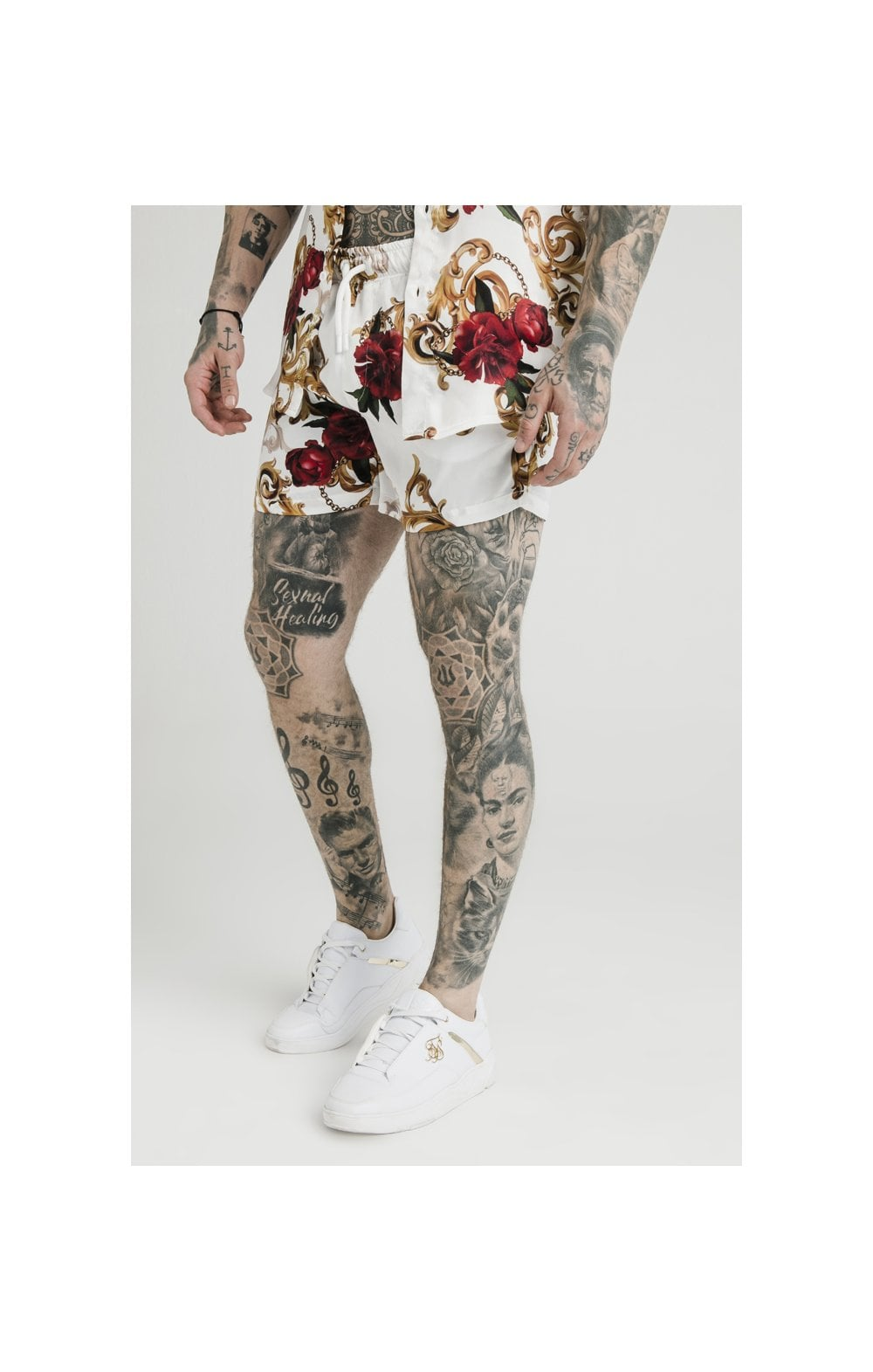 SikSilk x Dani Alves Swim Shorts - Floral Elegance (1)
