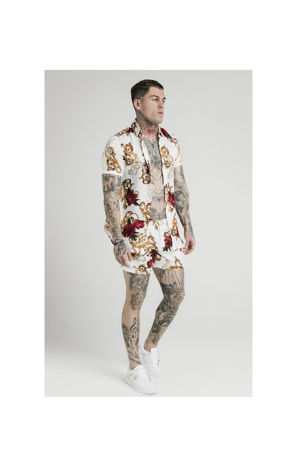 SikSilk x Dani Alves Swim Shorts - Floral Elegance (5)
