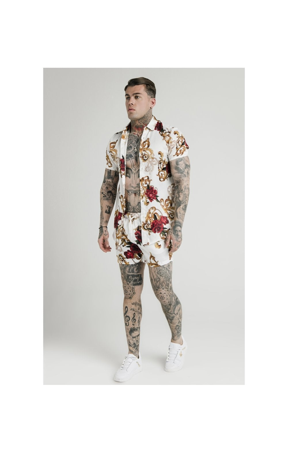 SikSilk x Dani Alves Swim Shorts - Floral Elegance (6)