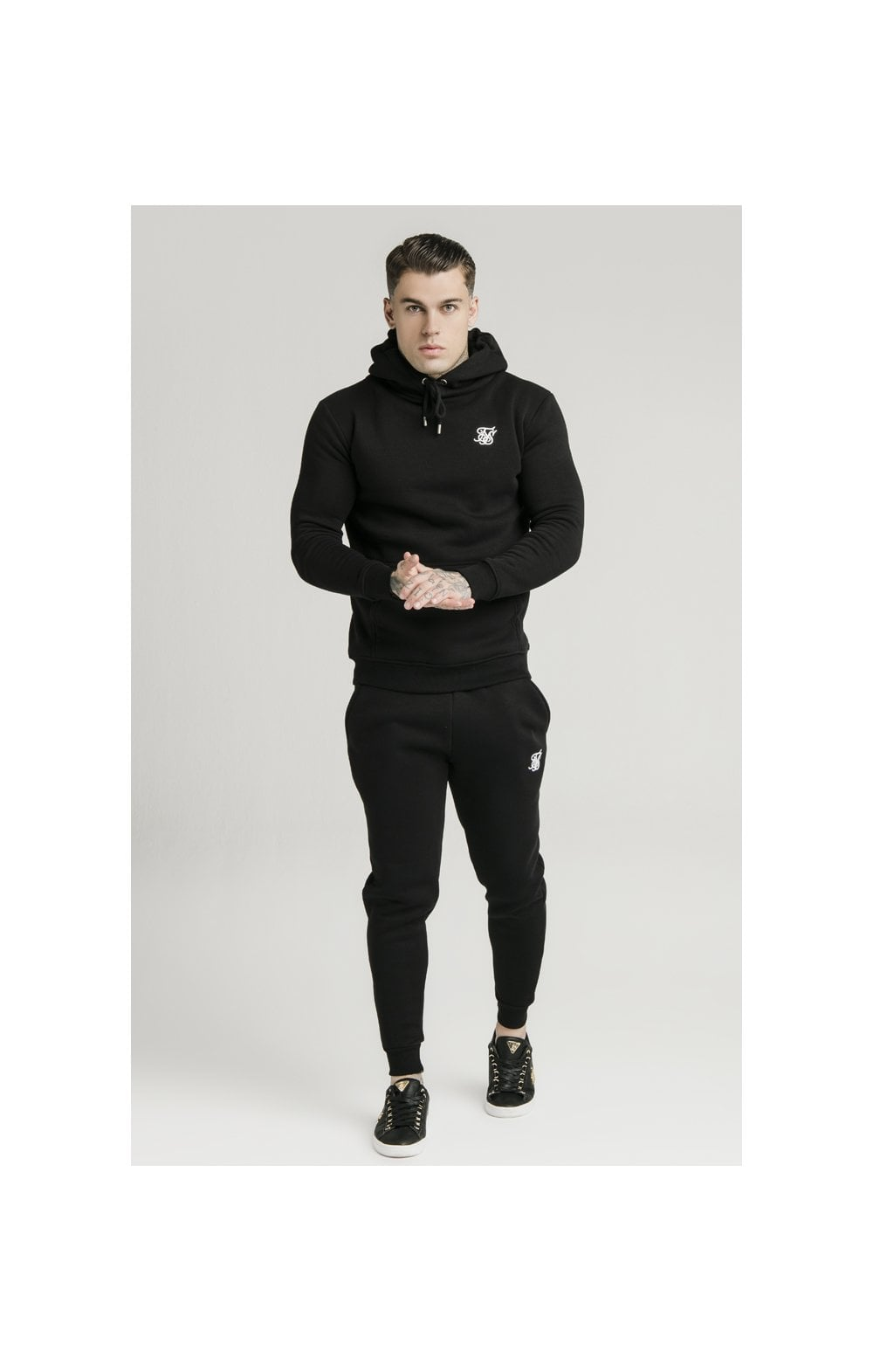 SikSilk Muscle Fit Overhead Hoodie - Black (3)