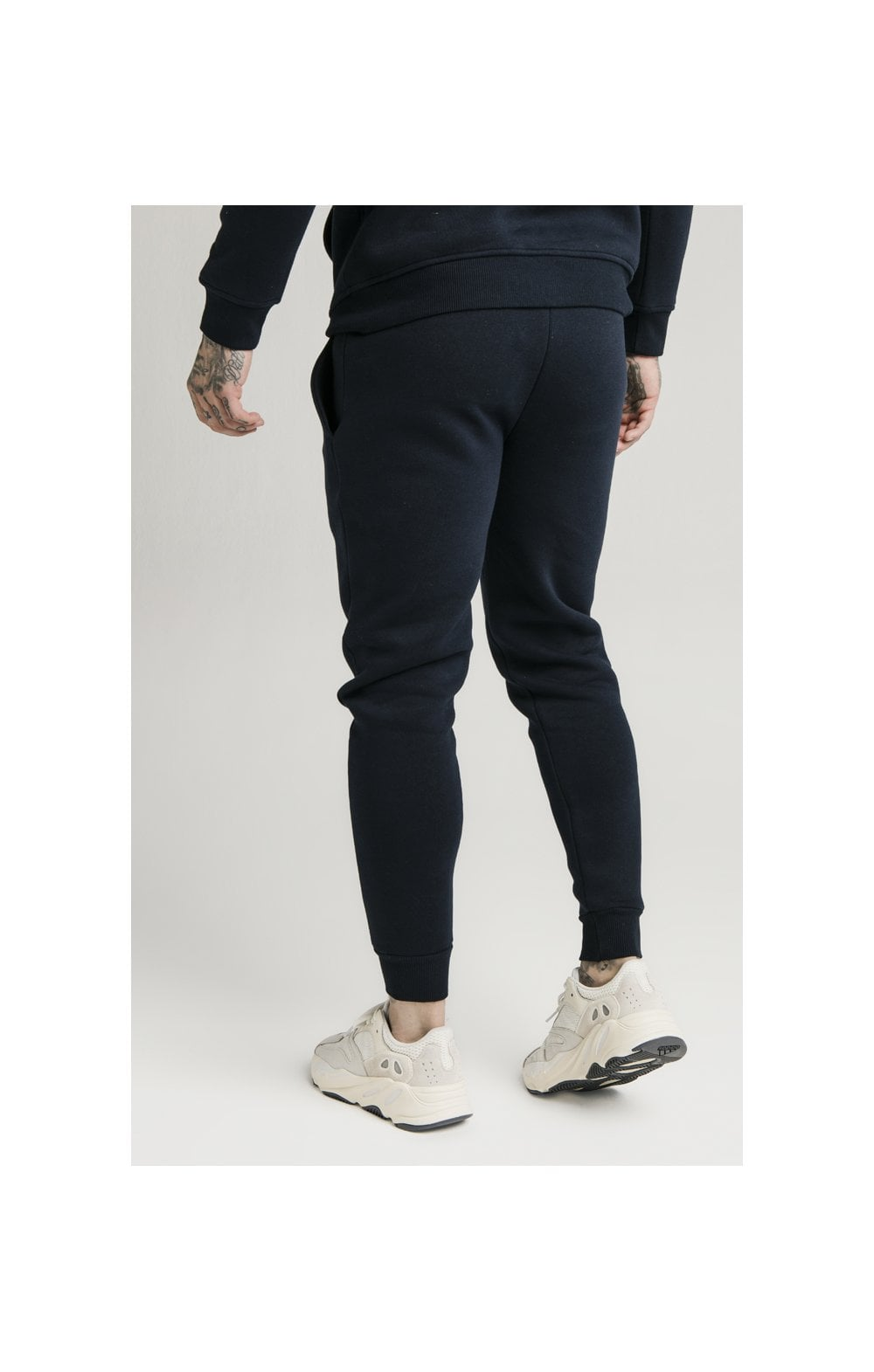 SikSilk Muscle Fit Jogger – Navy (3)
