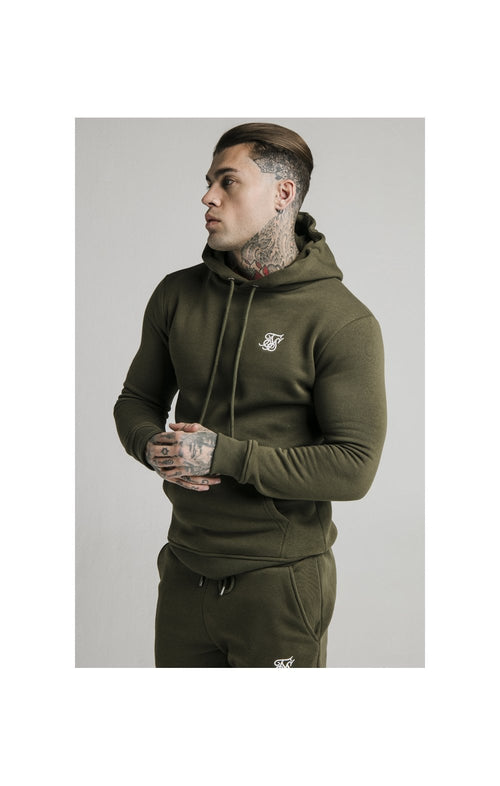 SikSilk Sweat à Capuche Moulant - Kaki